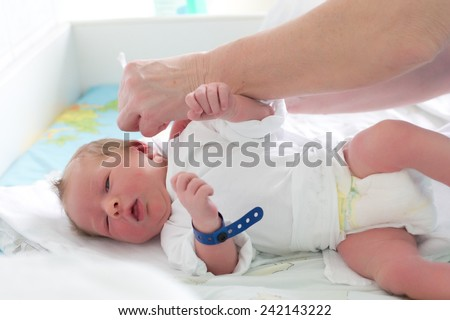 The first day at the hospital - stock photo