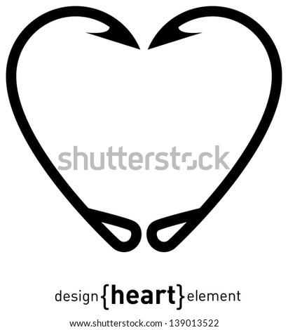 Fish Hook Heart Drawing The fishing hook heart