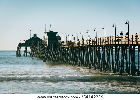 The fishing pier in Imperial Beach, California. - stock photo