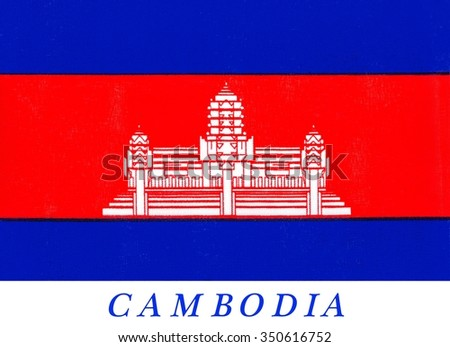 The flag of Cambodia was originally adopted in 1948 and then readopted in 1993, after elections restored the monarchy. Since around 1850, the Cambodian flag has featured a depiction of Angkor Wat.