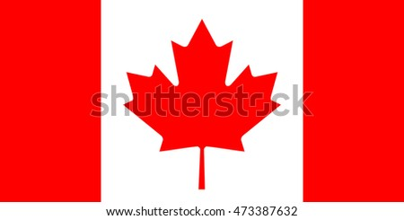 The Flag of Canada - very big image (illustration)