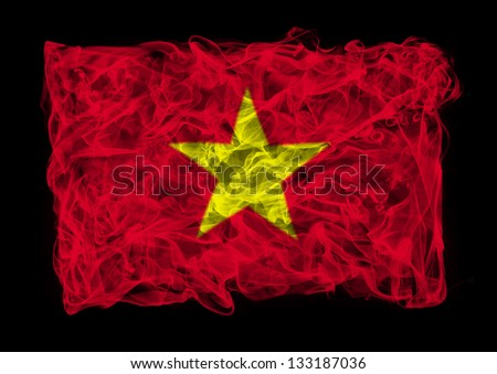 The flag of China consists of a smoke - stock photo
