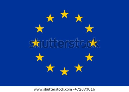 The Flag of Europe (European Union), or European Flag - very big image (illustration)