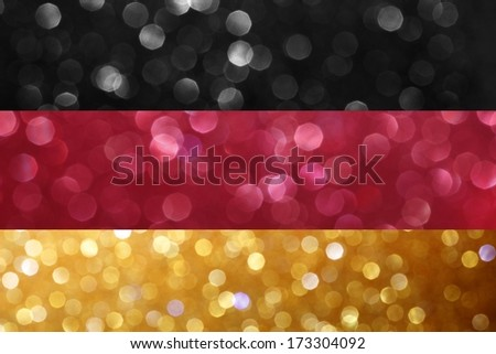 The flag of Germany - stock photo