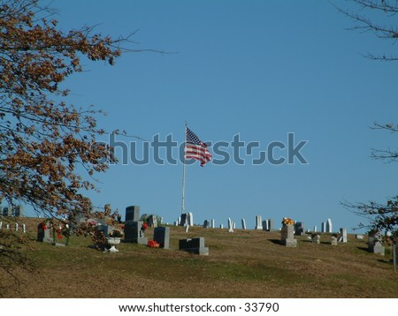 The flag waves on - stock photo