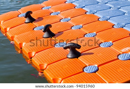 The floating raft.