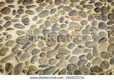the floor built of natural stone