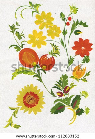 The flowers - stock photo