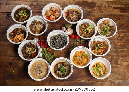 the food for restaurant - stock photo