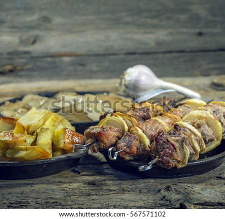 Fish Dish Cooking Various Ingredients Raw 库存照片 523291636