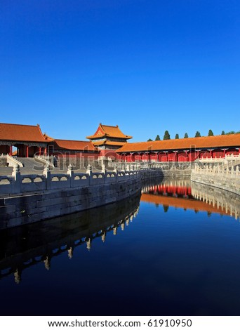 The Forbidden City. Beijing, China. Copy space available