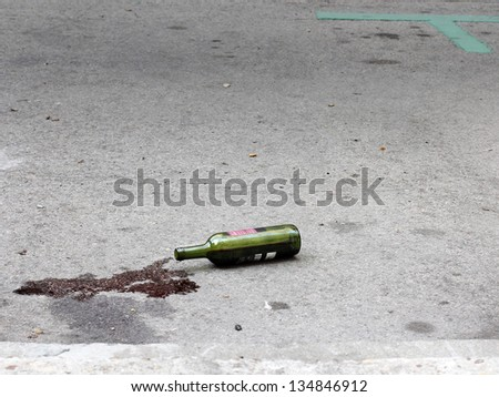 The forgotten bottle - stock photo