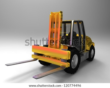 the forklift - stock photo