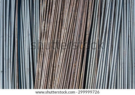 The format of the steel used in construction. - stock photo