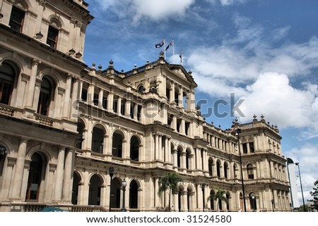 The former Queensland Government Treasury Building in Brisbane, Queensland, Australia. - stock photo