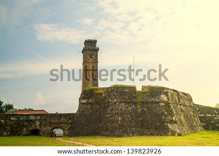 The fort in Galle is a dutch fortress on Sri Lanka in the Indian Ocean in the asian tropes - stock photo