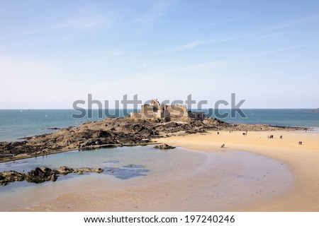 """The """"Fort National"""". Saint Malo. France - stock photo"""