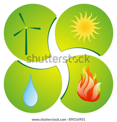 The Four Elements - stock photo