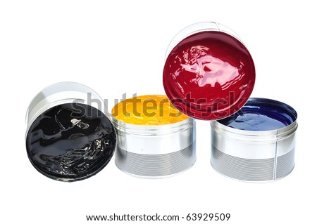 The Four Offset Printing Color Ink, Process Ink - stock photo