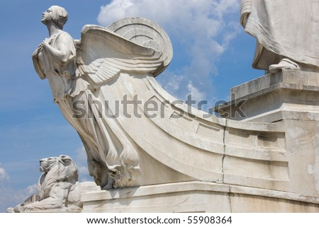 The fragment of Columbus monument  in Washington, DC - stock photo