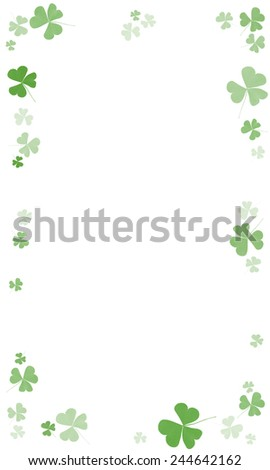 The frame of a clover - stock photo