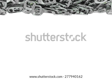 The frame of the metal ring pull on white background - stock photo