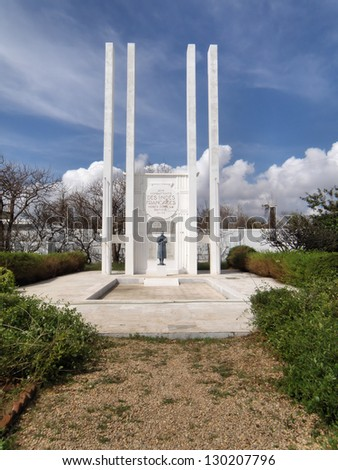 The French War Memorial, Puducherry, is a monument for those soldiers who lost their lives in the First World War. - stock photo