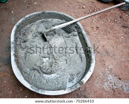 The Fresh cement - stock photo