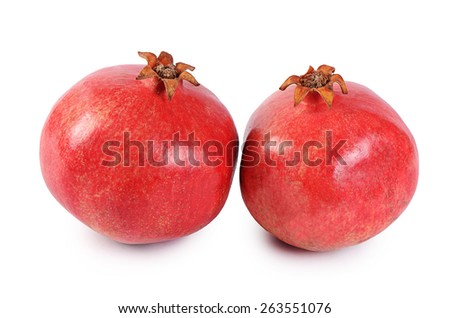 The fresh pomegranate as a background closeup