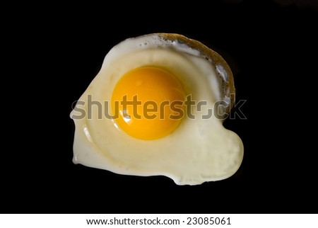 the fried eggs on black