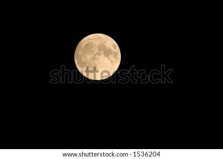 The Full Moon - stock photo