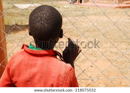The future beyond the fence  - stock photo
