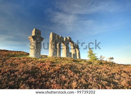The Fyrish monument on fyrish hill, evanton, Scotland - stock photo