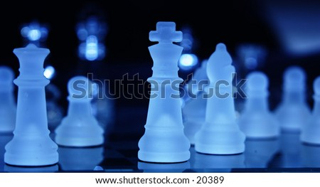 The game in hi tech - stock photo