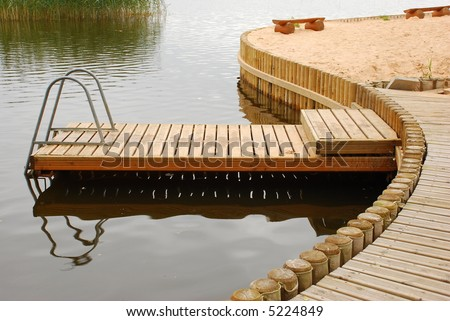 The gangway - stock photo