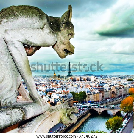 The gargoyle dinner - stock photo