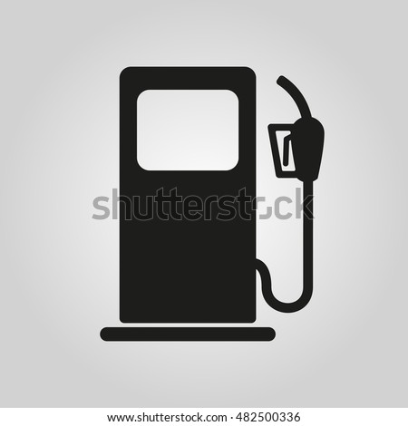 The gas station icon. Gasoline and diesel fuel symbol. Flat  illustration