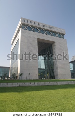 The Gate, Dubai International Centre - stock photo