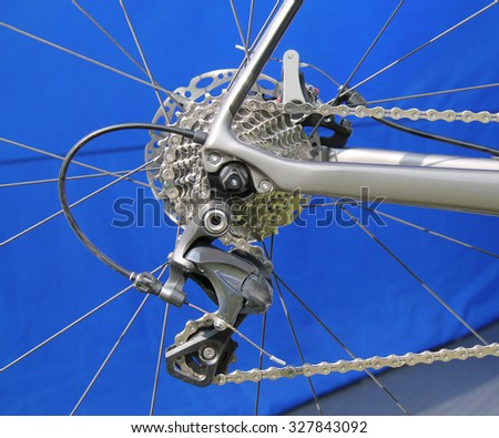 The Gears of a High Performance Racing Bicycle. - stock photo
