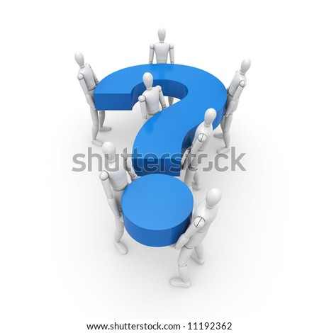 The general question - stock photo