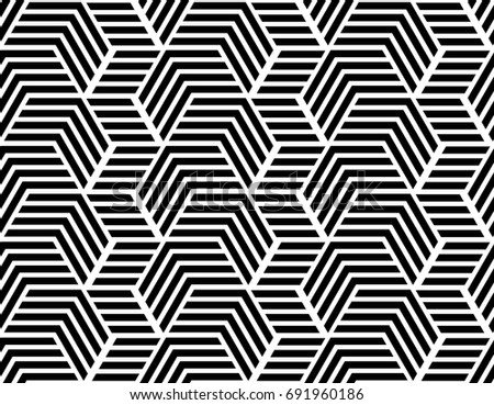 The geometric pattern with stripes, lines. Seamless background. Black and white texture.