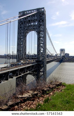 The George Washington Bridge as seen from Fort Lee, NJ