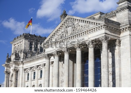 The german parliament building in Berlin/ Germany. - stock photo