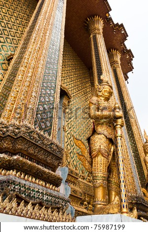 The giant golden in Wat Phra Kaew