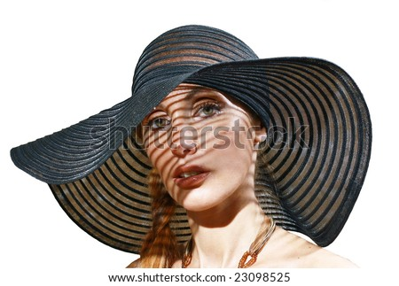 The girl in a black hat