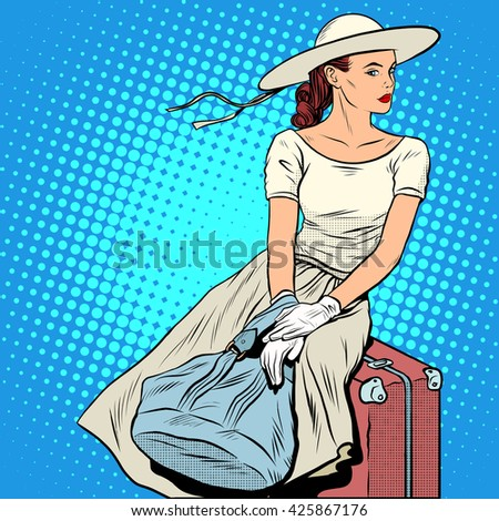The girl passenger Luggage