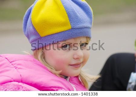 The girl walks in park. - stock photo