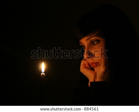 The girl with a candle 2