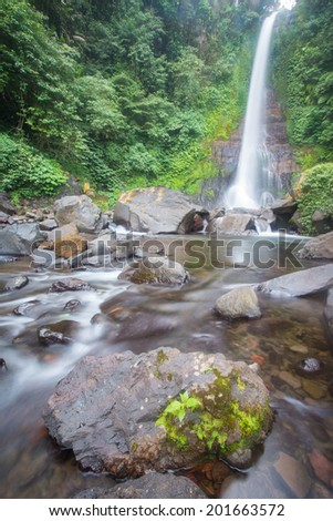 The gitgit waterfall on singaraja, bali, indonesia - stock photo
