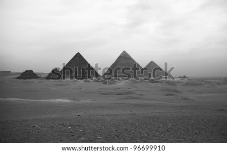 The Giza pyramids - stock photo